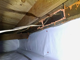 Vapor Barrier installed underneath a house.